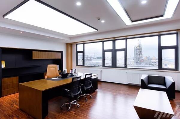 青岛软件开发公司125平方米办公室简美风格装修效果图