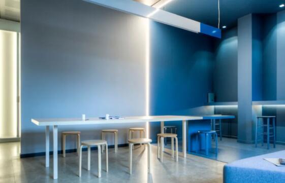 青岛电子商务有限公司200平办公室装饰设计效果图